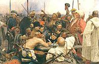 Ukrainian cossacks are writing a letter to the Turkish sultan