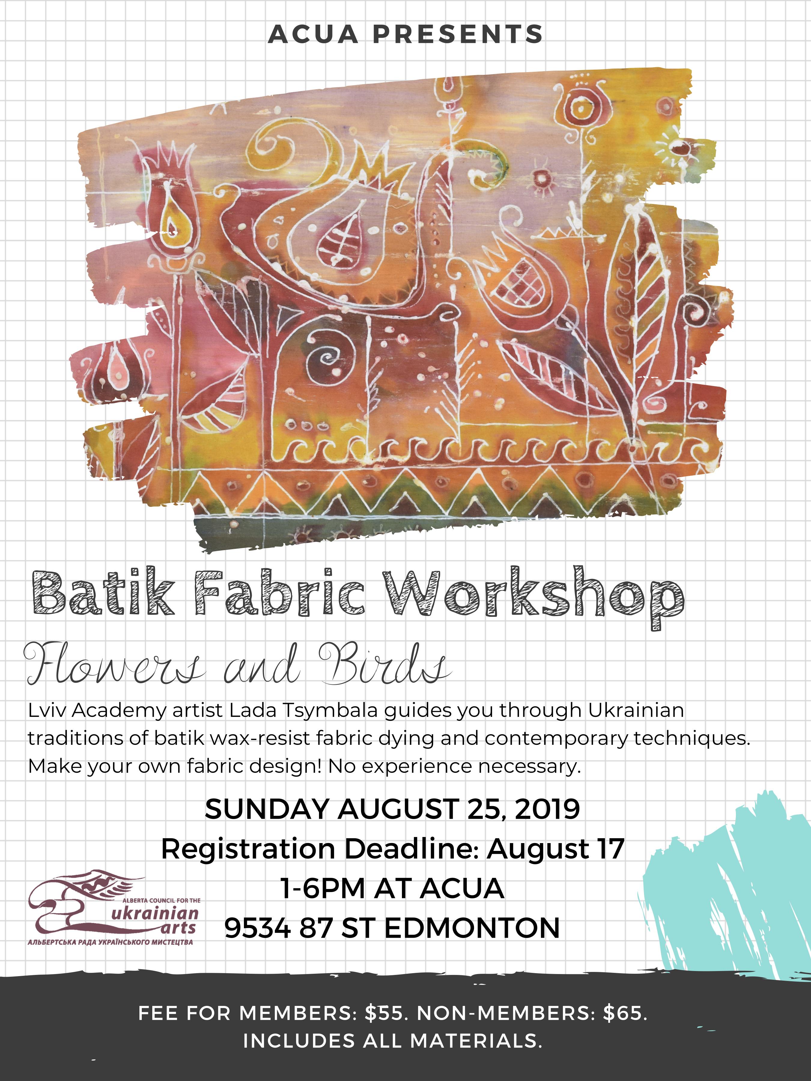 Batik Fabric Workshop - UCC-APC